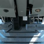 Plate-forme plate et tapis en caoutchouc